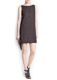 Mirror embellishment dress