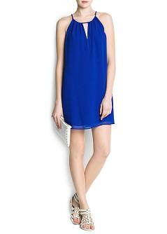 Halter neck double layer dress