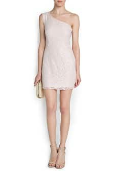 One lace shoulder dress