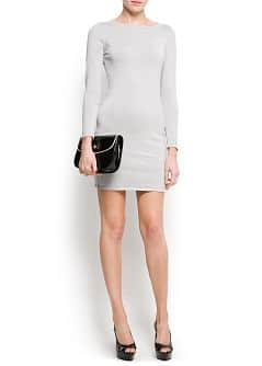 Metallic sweater dress