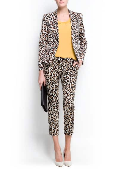 Blazer estampado animal