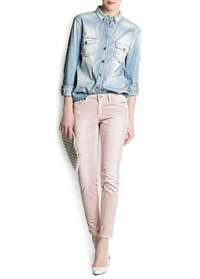Embroidered super slim-fit jeans