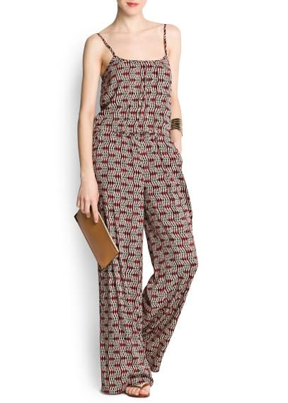 Printed long jumpsuit