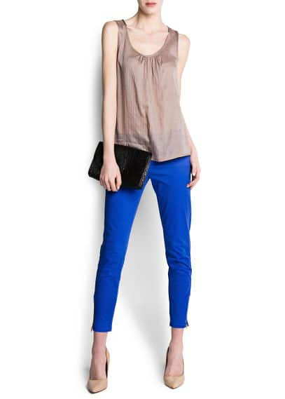 Asymmetric hems top