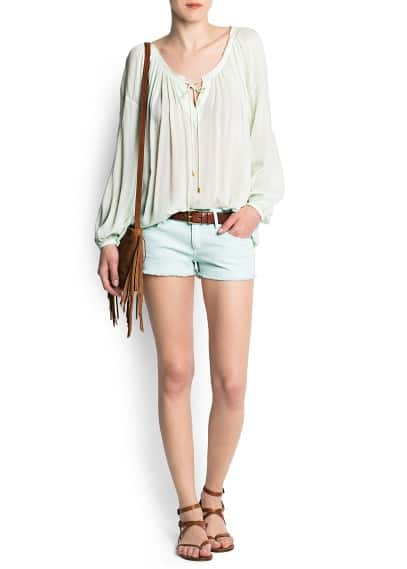 Gathered neckline blouse style top