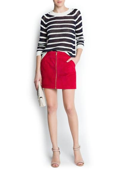 Striped knit jersey