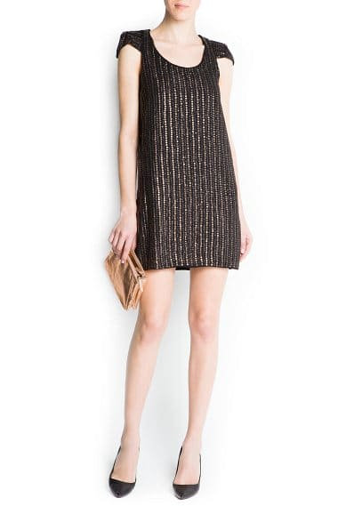 Striped sequins dress