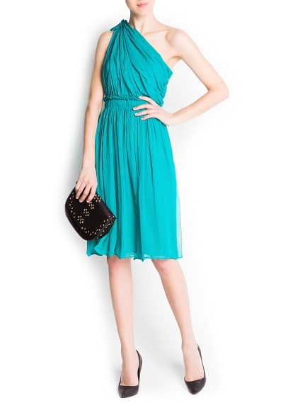 Asymmetric silk dress