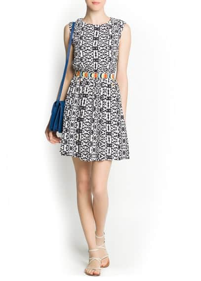 Ethnic appliqué printed dress