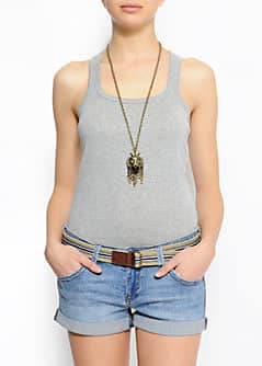 Slim-fit racerback sleeveless t-shirt