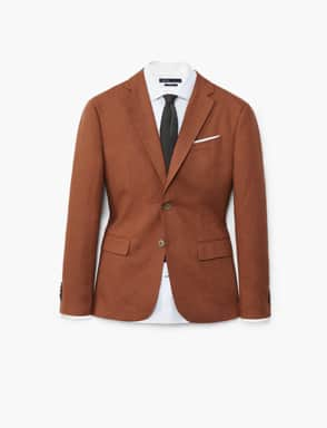Veste slim-fit en lin