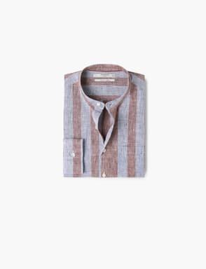 Chemise en lin à rayures