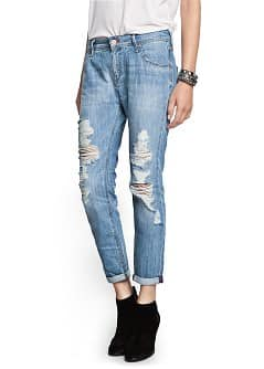 Light wash ripped boyfriend jeans - Woman | MANGO Sri Lanka