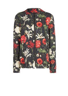 Floral print bomber jacket - Woman | MANGO United Kingdom