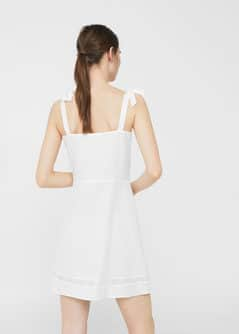 Bow linen dress - Women | MANGO USA
