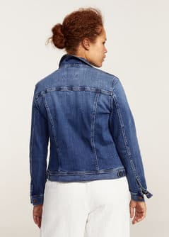 Medium wash denim jacket - Women | MANGO USA
