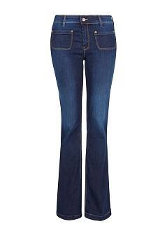 Dark wash flare jeans - Women | MANGO USA