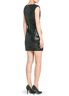 Leopard sequin dress - Women - MANGO USA