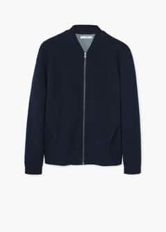 Textured cotton bomber jacket - Women | MANGO USA