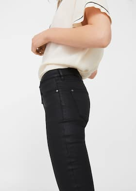casual shoes recognized brands authorized site Waxed skinny Belle jeans