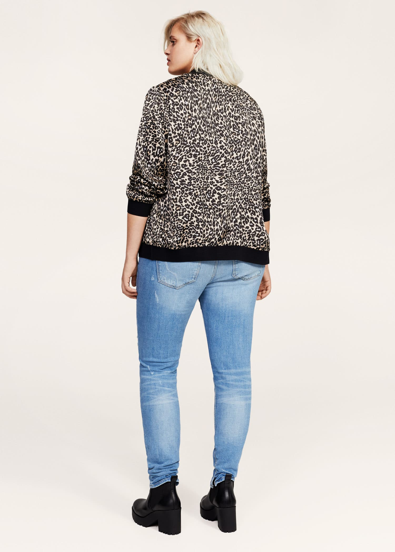 ajuste clásico 9a7f9 2bd2d Leopard print bomber jacket - Plus sizes | OUTLET Sweden