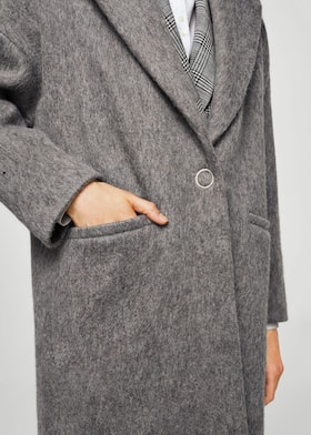 Unstructured mohair-blend coat - Women   MANGO USA 6ef475366fff