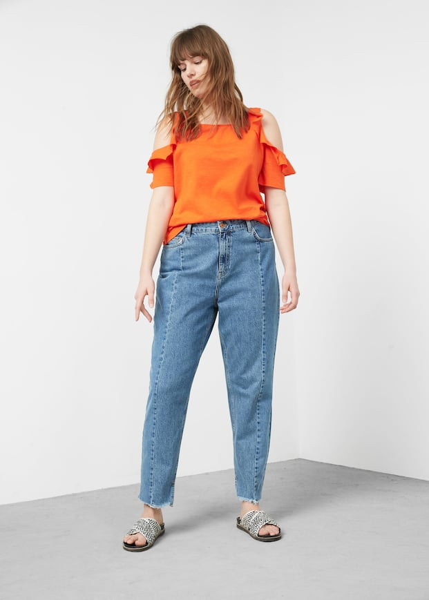 813d9ad07f Ruffled off-shoulder t-shirt - T-shirts Plus sizes | OUTLET Malta