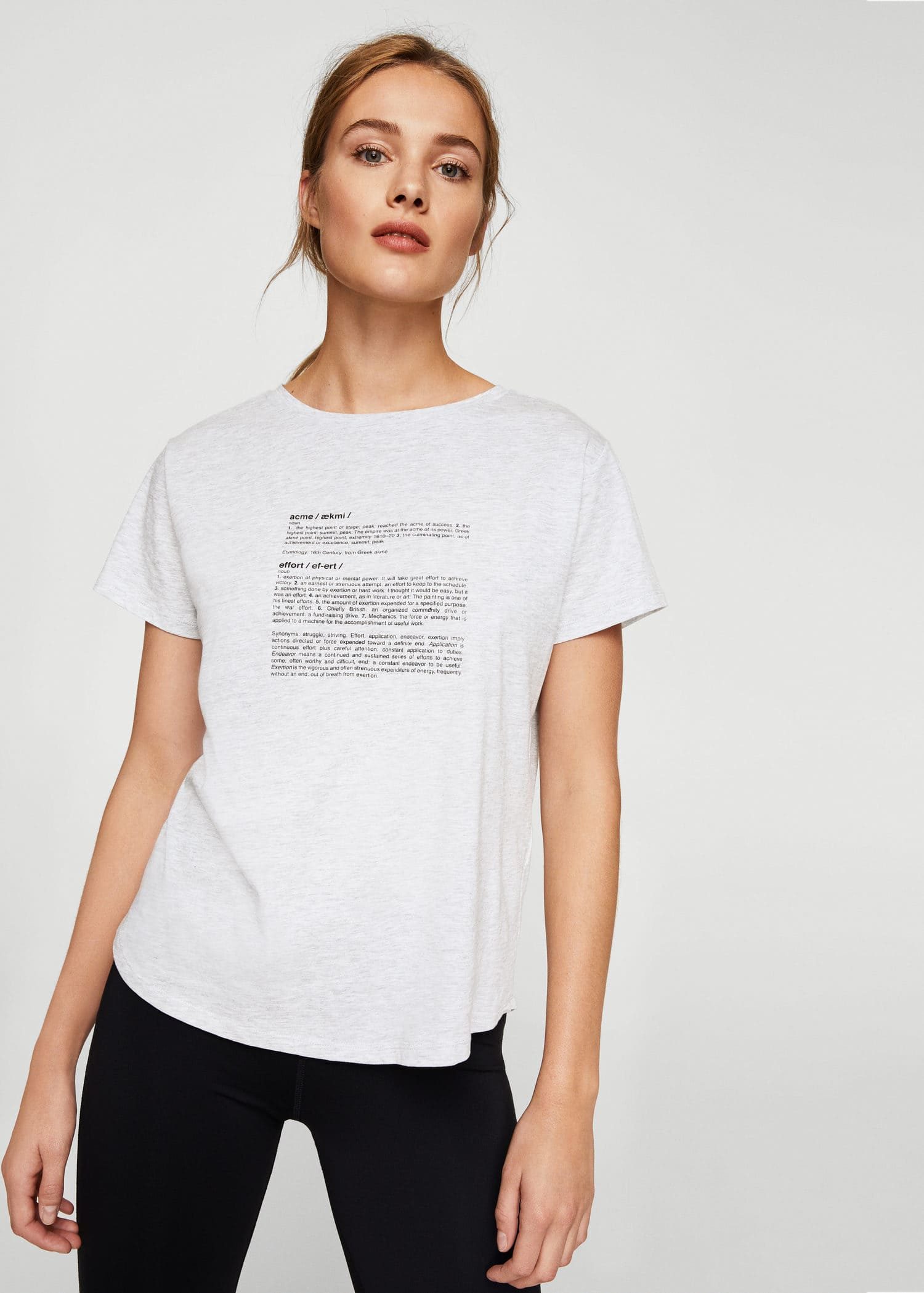 afe21252a2fa Message cotton t-shirt - Women | Mango United Kingdom