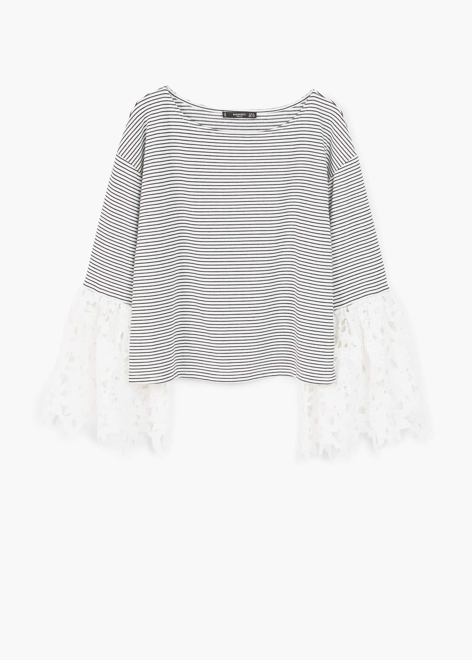 Lace sleeve t shirt Woman | OUTLET Denmark