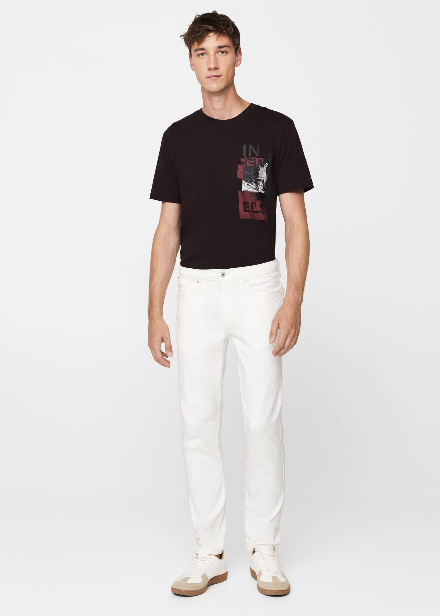 Slim Fit White Partrick Jeans by Mango