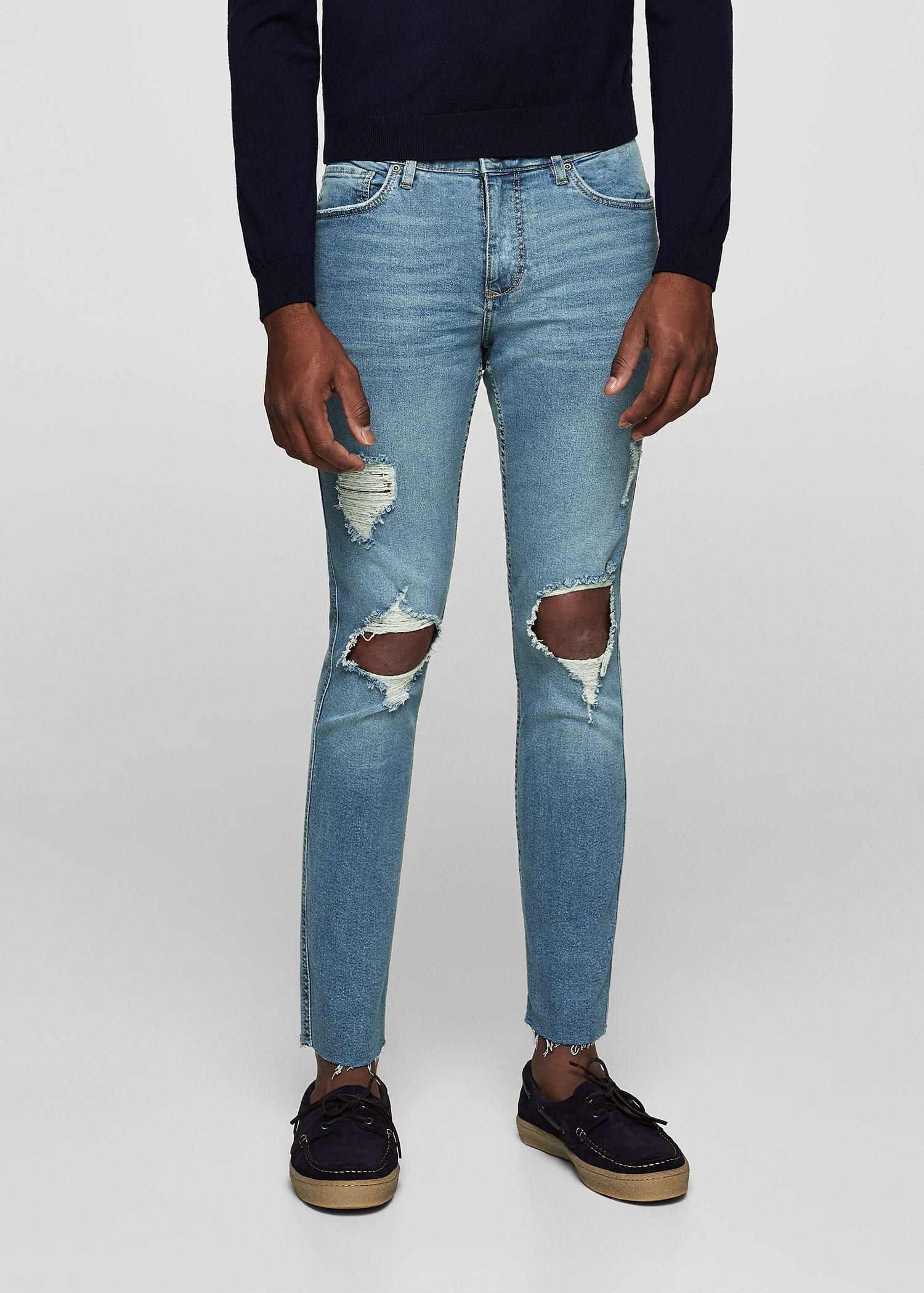 Skinny Greg Ripped Jeans by Mango