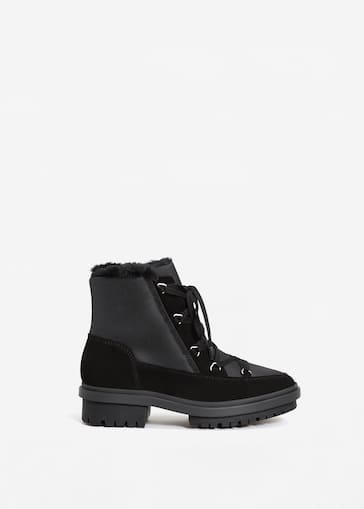 fbb269bfd13 Track sole contrast ankle boots - Women | Mango United Kingdom