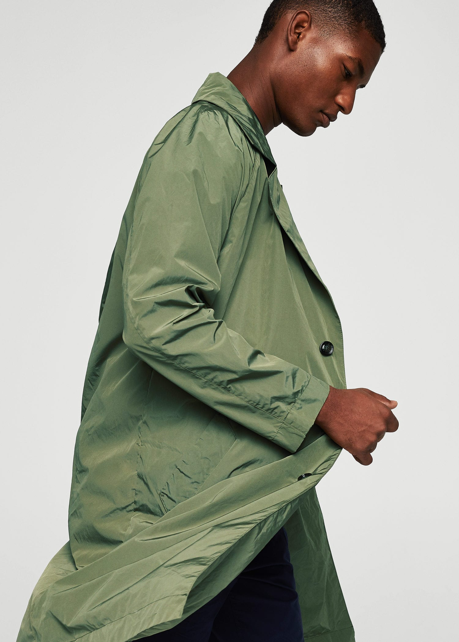 Water Repellent Nylon Trench by Mango