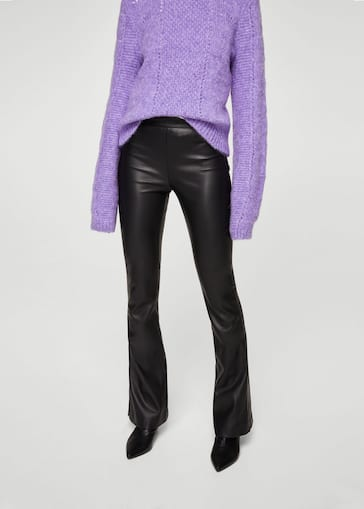 0ced509b7 Faux-leather trousers