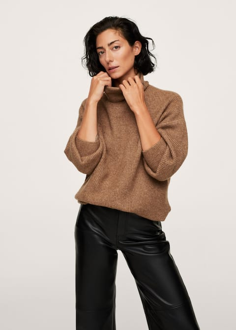 Turtleneck knitted sweater - Medium plane