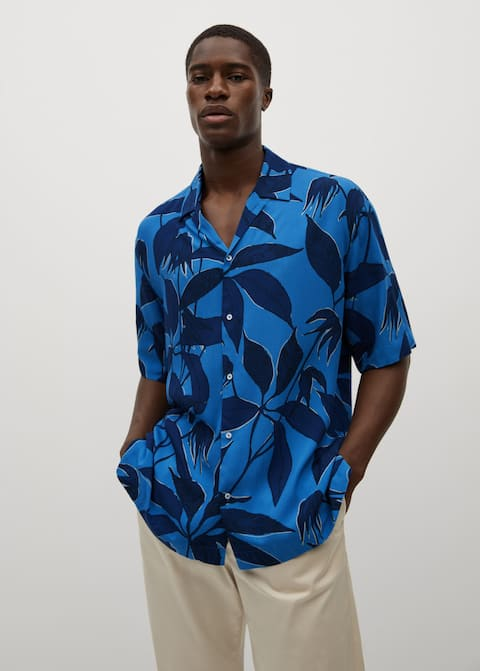 Printed flowy shirt - Medium plane