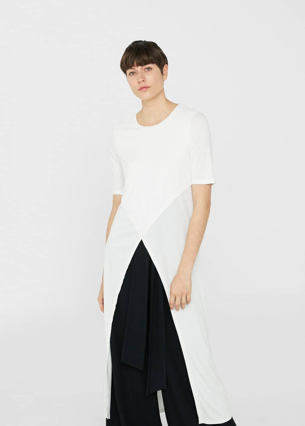 Open detail t-shirt | MANGO