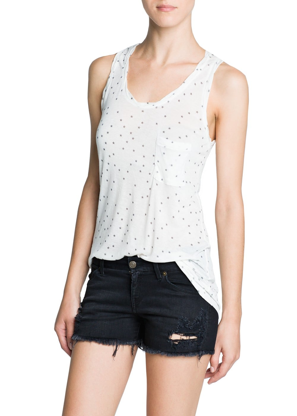 Star print flowy top | MANGO