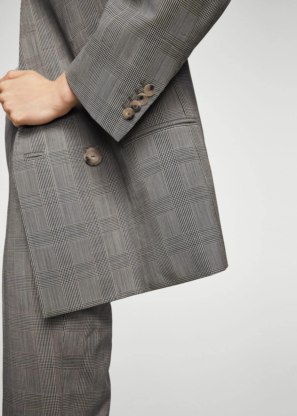 Check wool blazer | MANGO