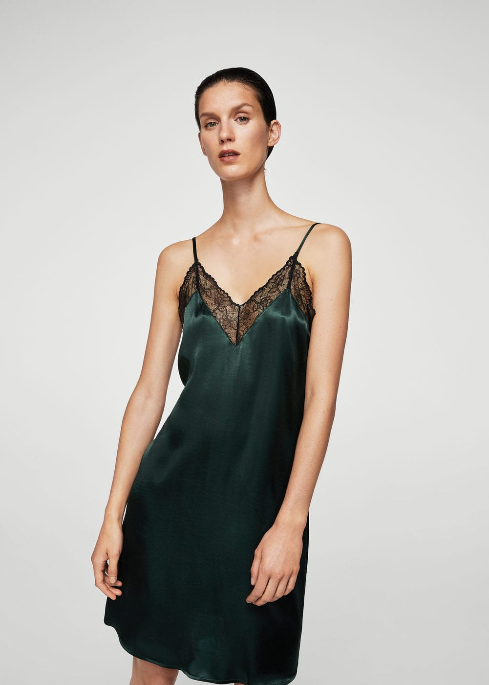 Lace camisole dress | MANGO
