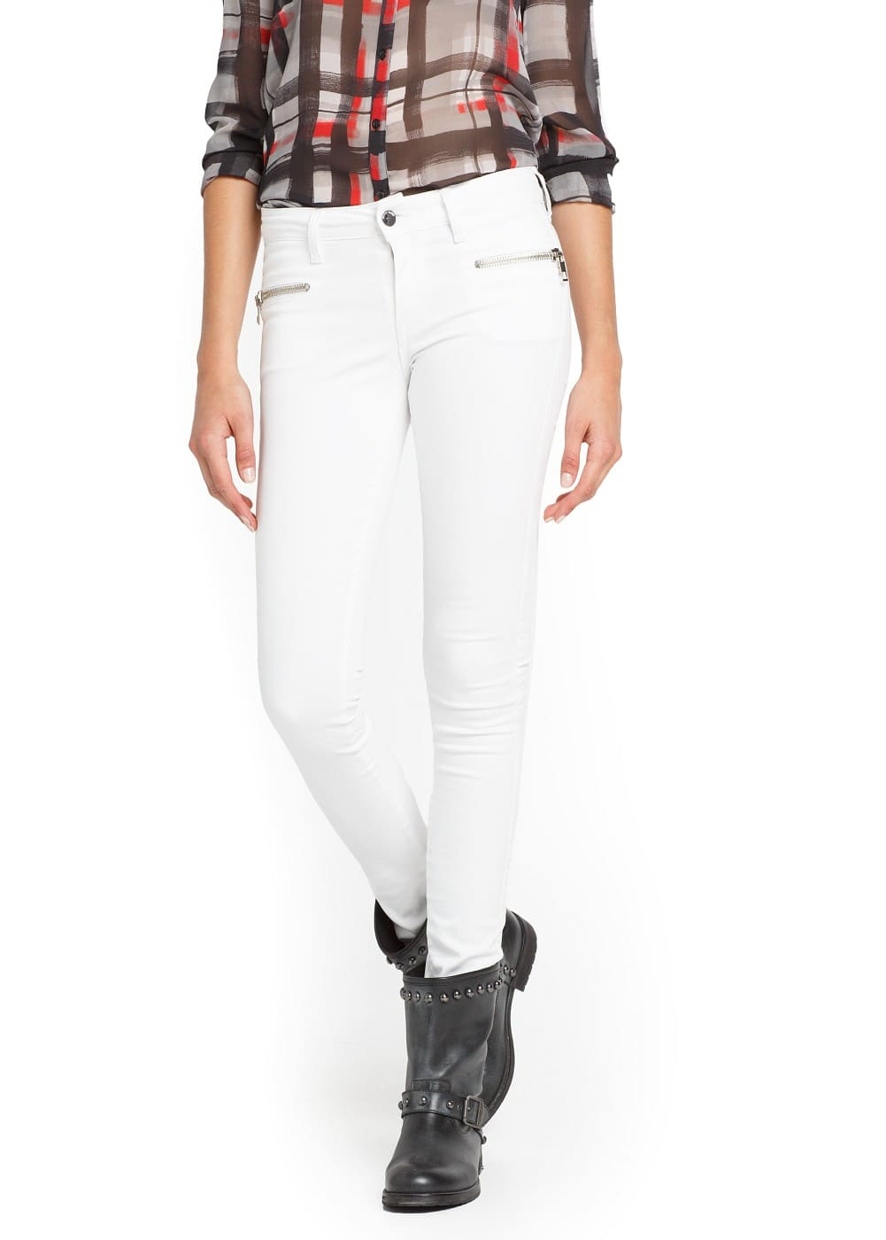Super slim-fit white blanche jeans | MANGO