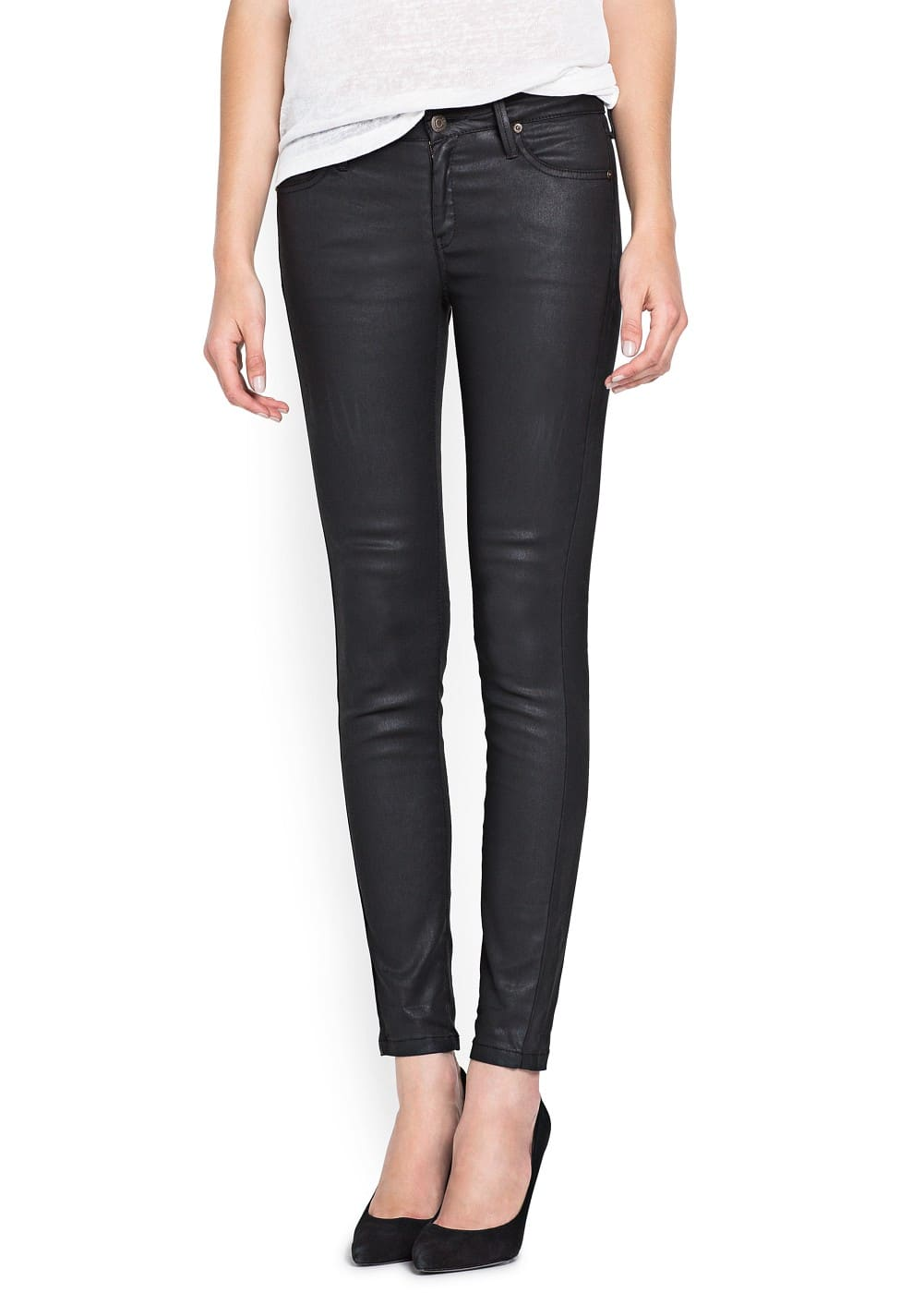 Super slim-fit black belle jeans | MANGO