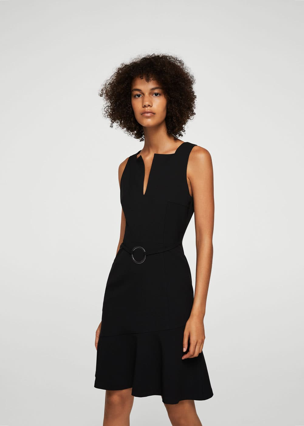 Ring cut-out detail dress | MANGO