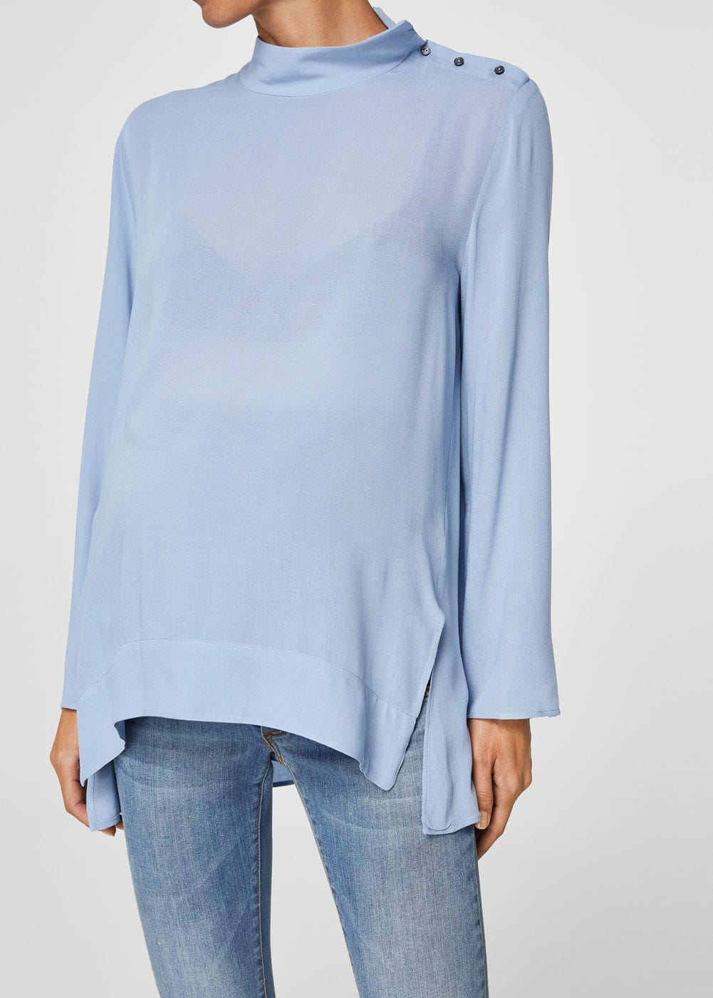 Turtleneck blouse | MANGO