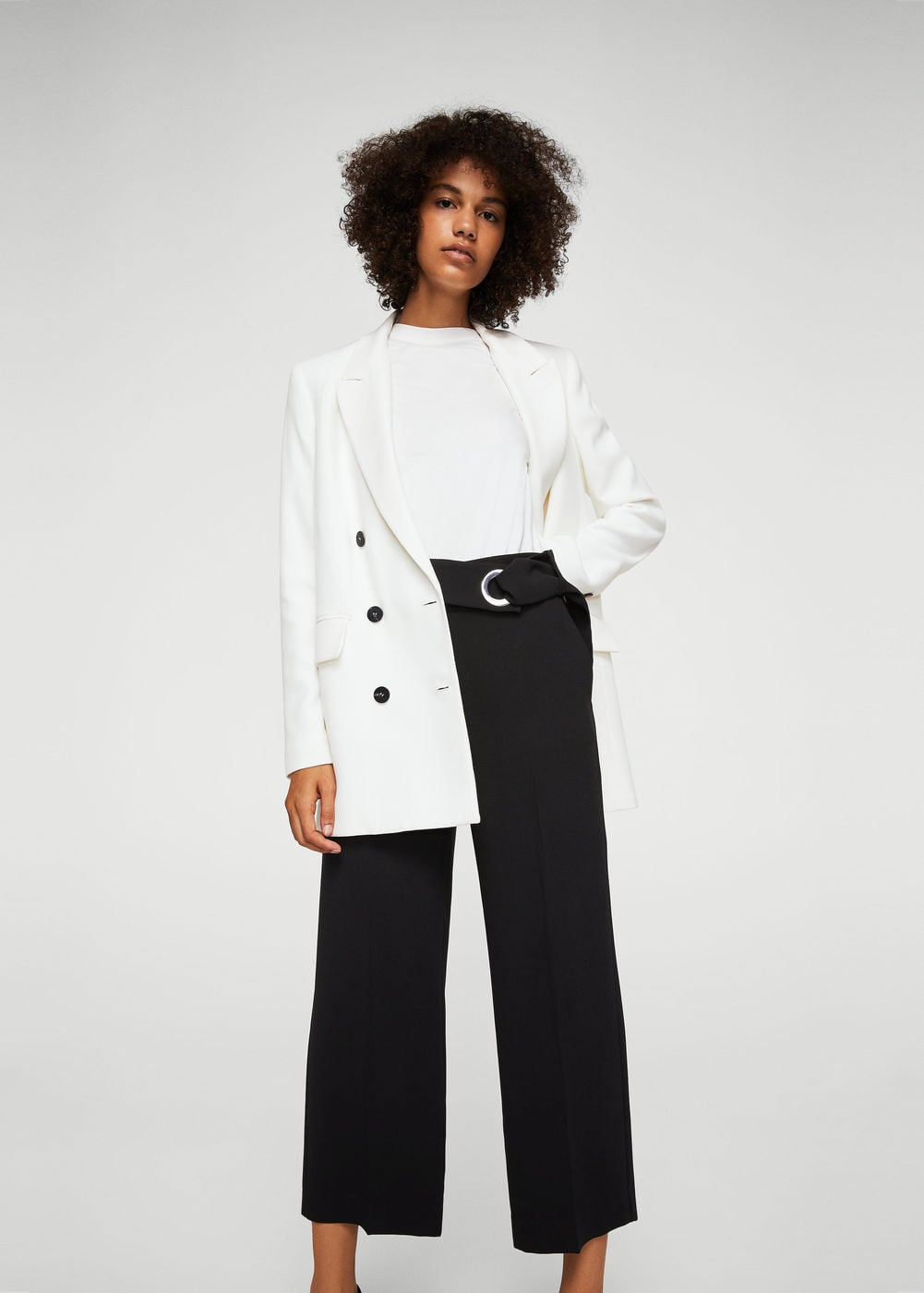 Buckle crop trousers | MANGO