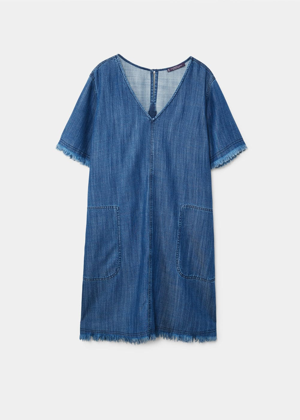 Frayed edges denim dress | MANGO