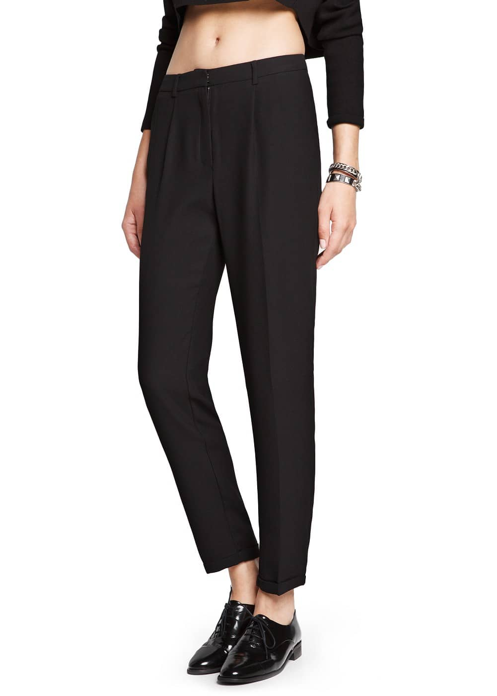 Crepe suit trousers | MANGO