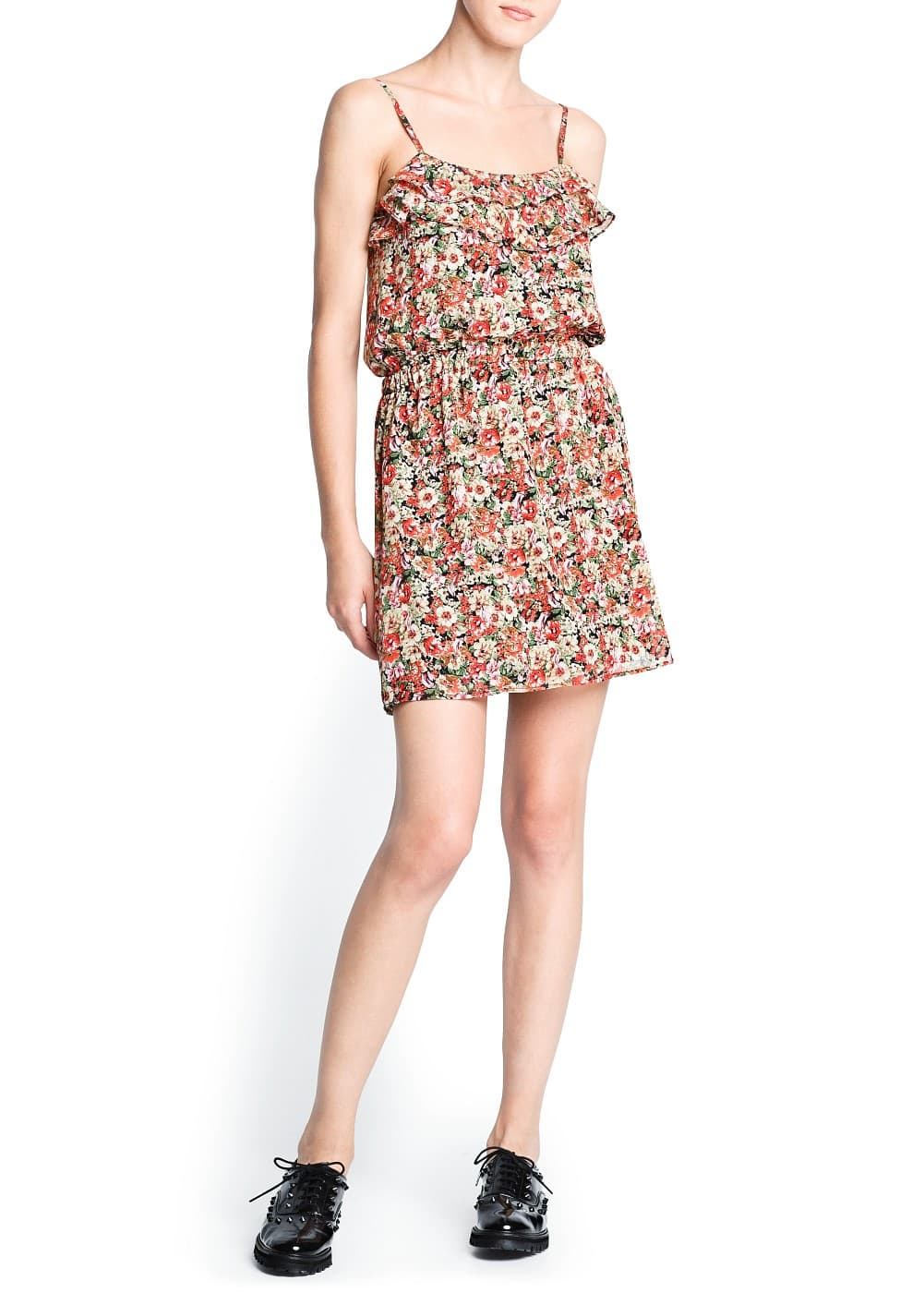 Floral print chiffon dress | MANGO