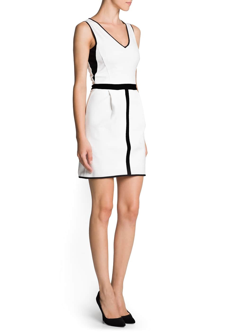 Mesh panels tailored dress | MANGO