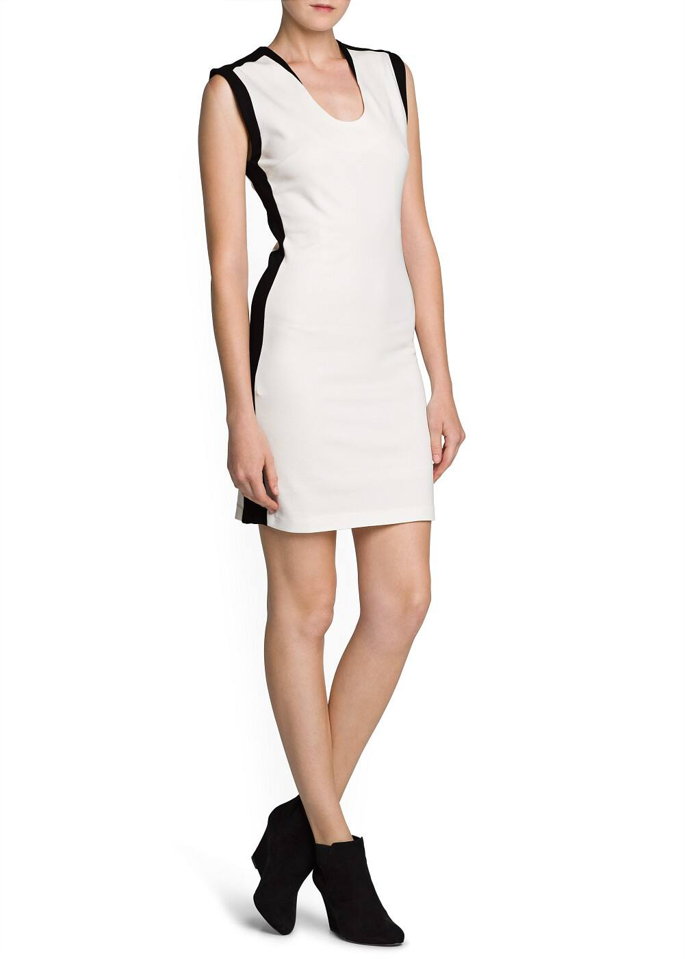 Contrast side tailored dress | MANGO